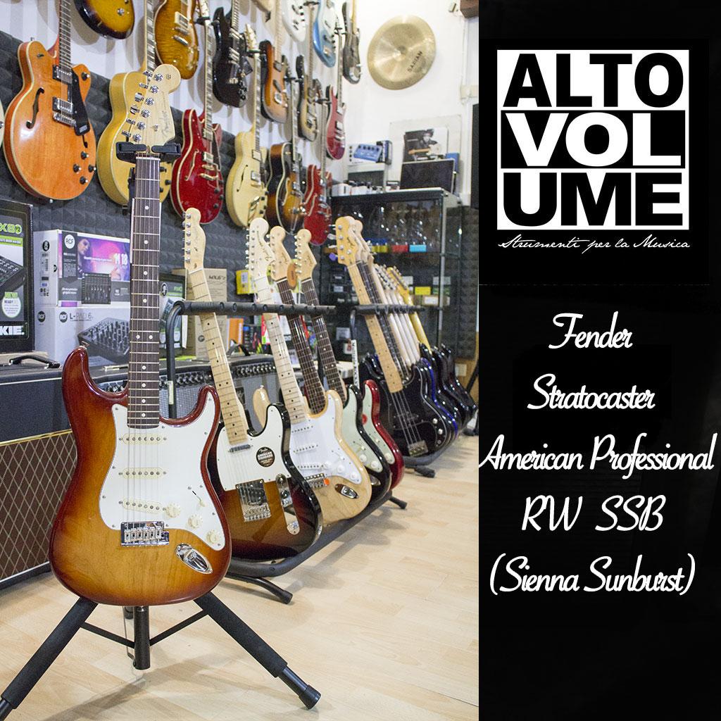 Fender American Professional Stratocaster RW SSB ( Sienna Sunburst )