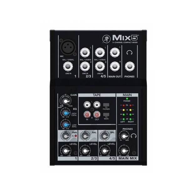 MACKIE MIX 5 – 1 CANALE MICROFONICO 2 STEREO JACK