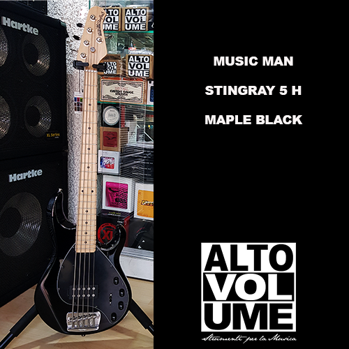 MUSICMAN STINGRAY5 MAPLE BLACK