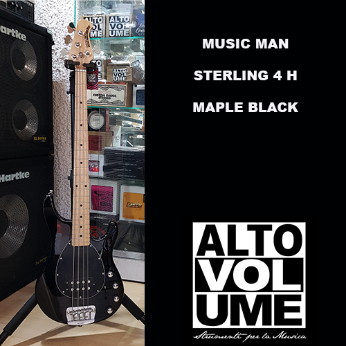 MUSIC MAN STERLING 4 MAPLE BLACK