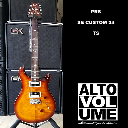 PRS SE CUSTOM 24 BIRDS TR 3 WB  2018 TOBACCO SUNBURST