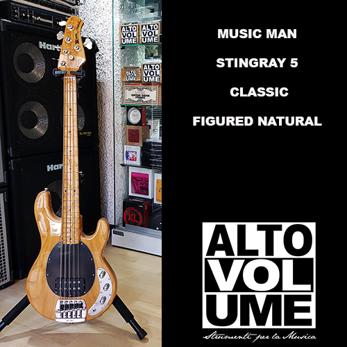 MUSICMAN STINGRAY 5 CLASSIC FIGURED NATURAL