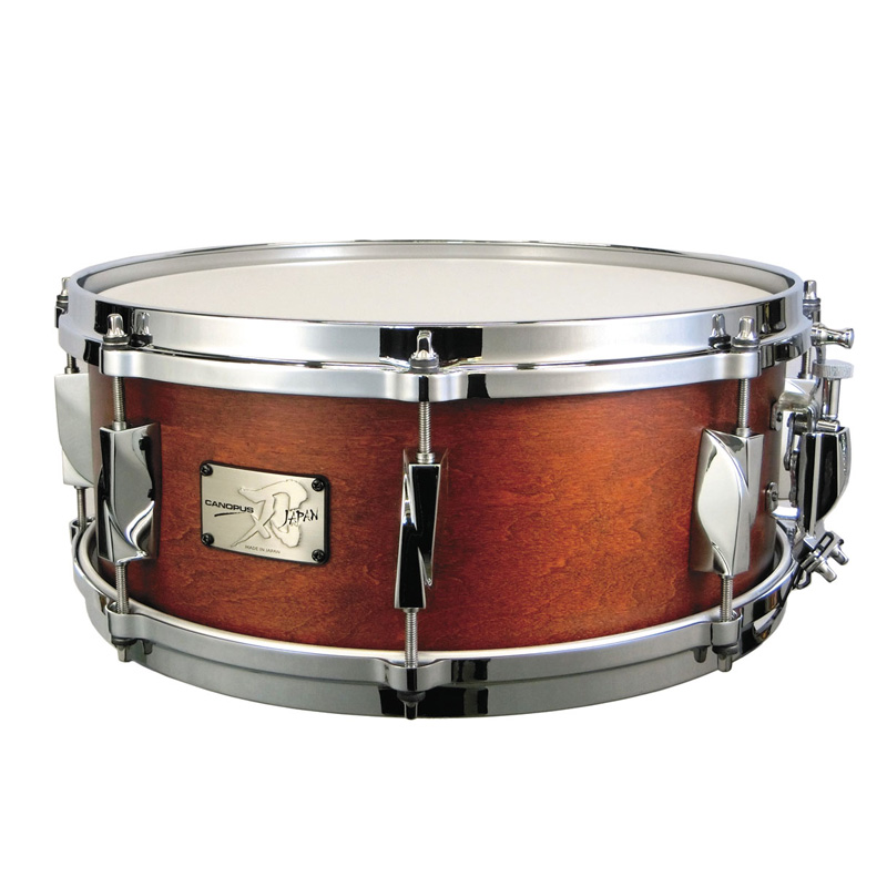 Canopus Yaiba II Maple Snare Drum Antique Amber Matt LQ