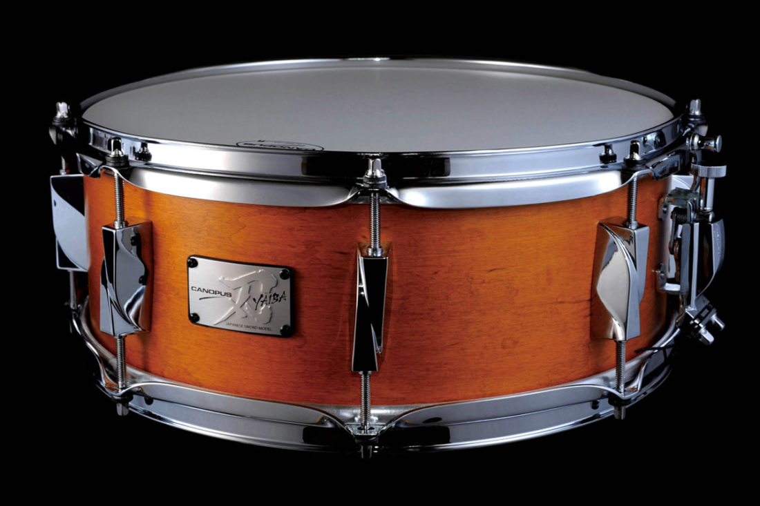 CANOPUS 刃 YAIBA II Maple Snare Drum Antique Amber Matt LQ