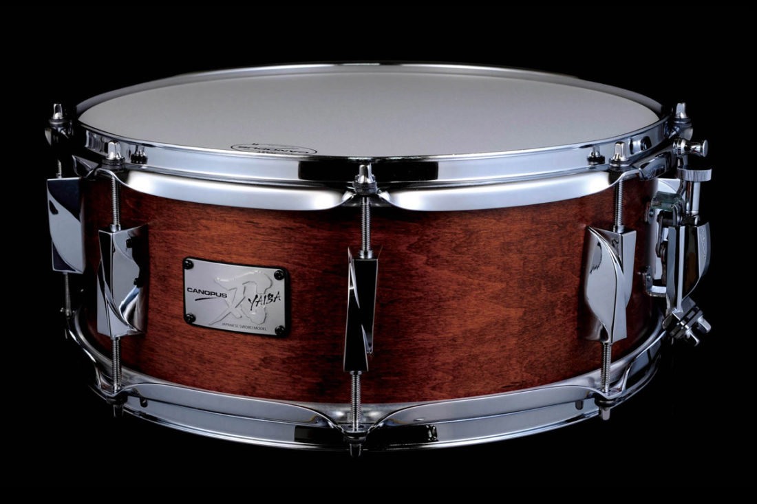 CANOPUS 刃 YAIBA II Maple Snare Drum Antique Brown Matt LQ