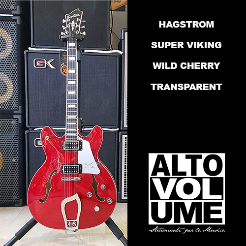 Hagstrom Super Viking Wild Cherry Transparent