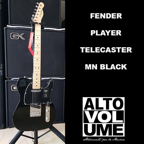 FENDER PLAYER TELECASTER BLACK MN