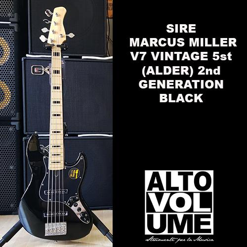 Sire Marcus Miller V7 Vintage 5st (Alder) 2nd Generation Black