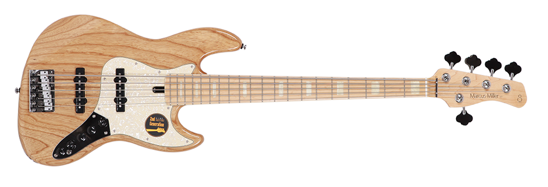 Sire Marcus Miller V7 Vintage 5st (Ash) 2nd Generation NT gloss