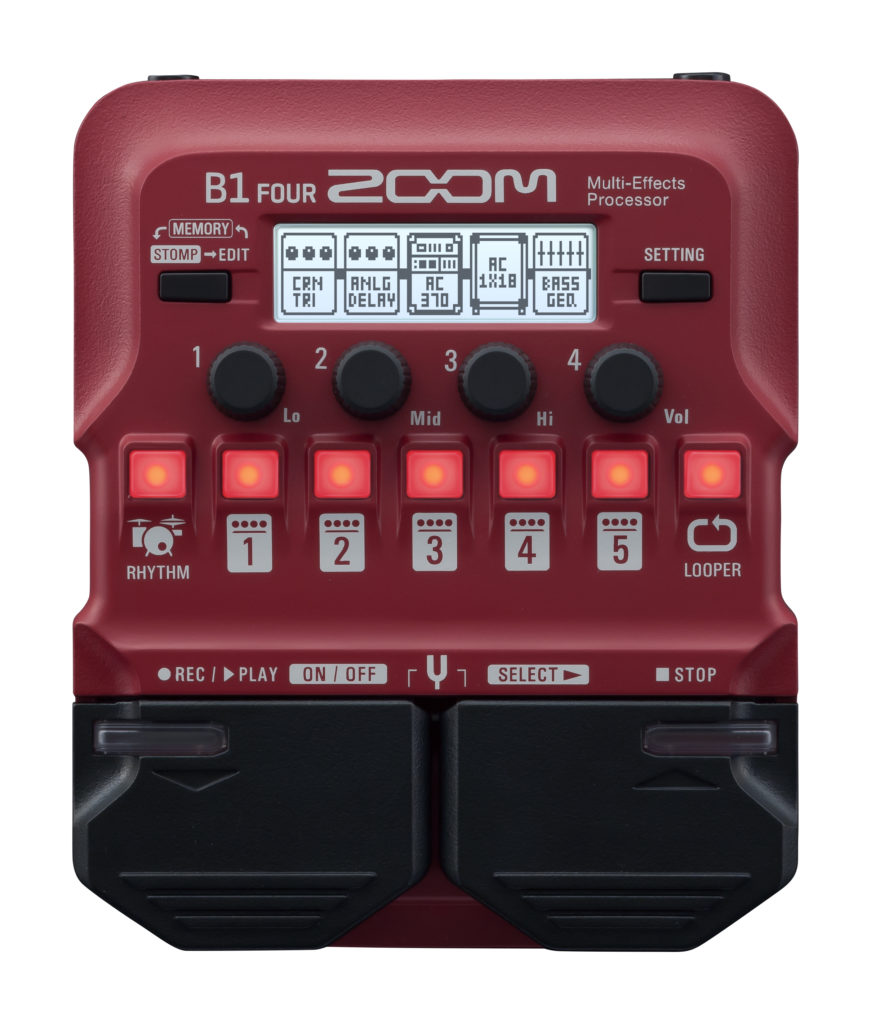 ZOOM B1 FOUR – MULTI-EFFECTS BASS PROCESSOR