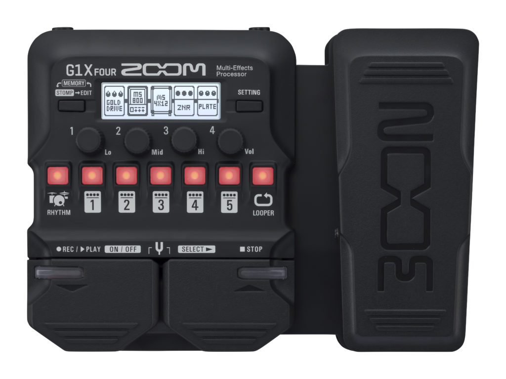 ZOOM G1X FOUR – MULTI-EFFECTS GUITAR PROCESSOR