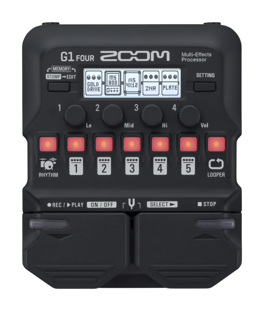 ZOOM G1 FOUR – MULTIEFFECTS PROCESSOR
