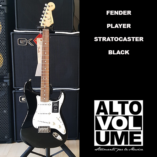 FENDER PLAYER STRATOCASTER – BLACK