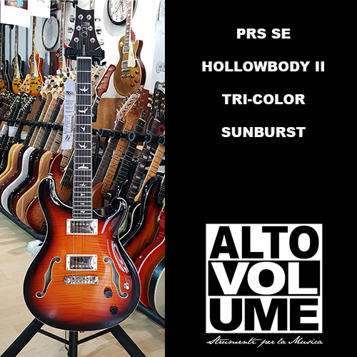 PRS SE HOLLOWBODY II – TRI-COLOR SUNBURST