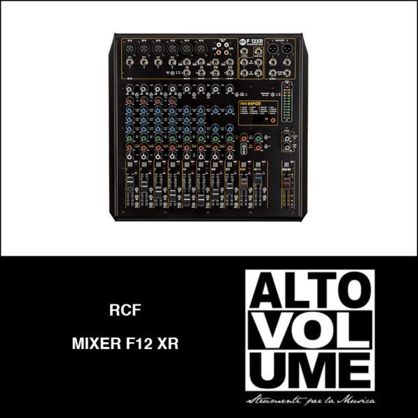 rcf mixer f12 xr