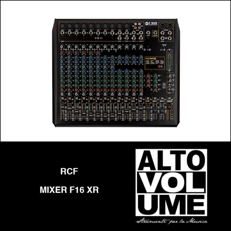 RCF Mixer F16 XR